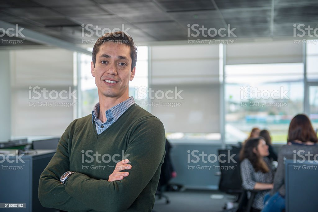 Professional man in office stock photo