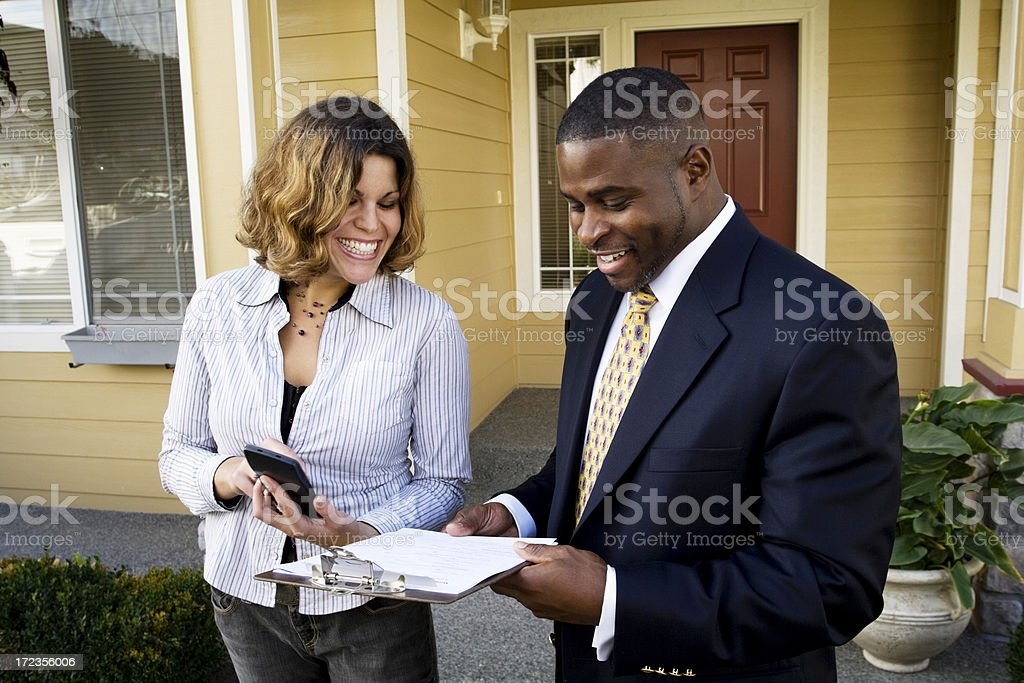 Professional man with his assistant XXL royalty-free stock photo
