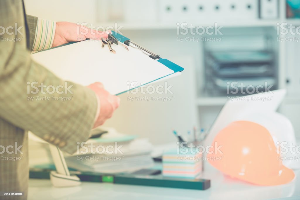 Professional man working with documents royalty-free stock photo