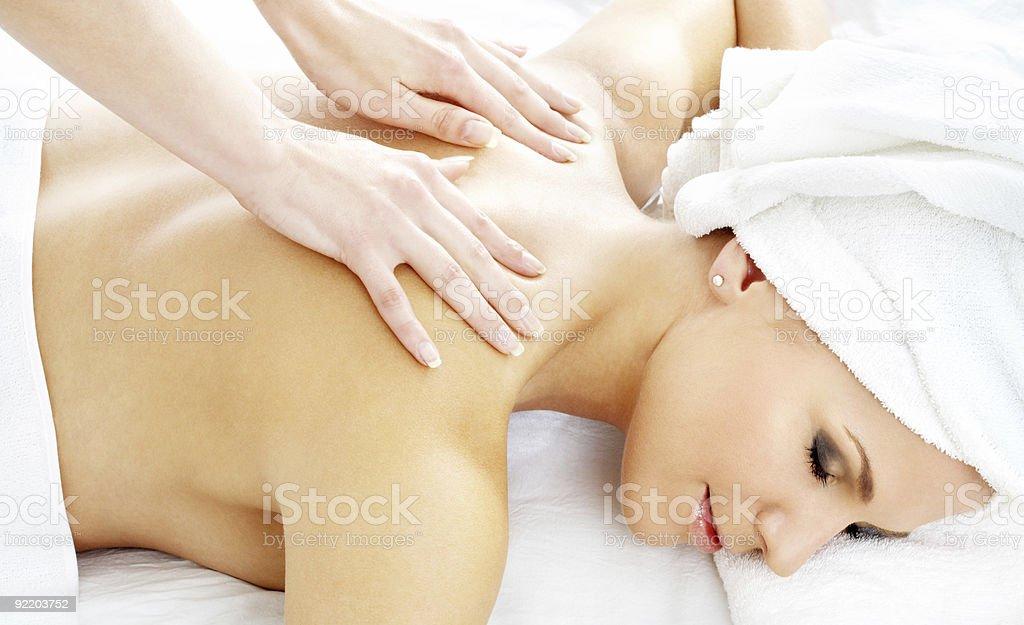 professional massage #2 royalty-free stock photo