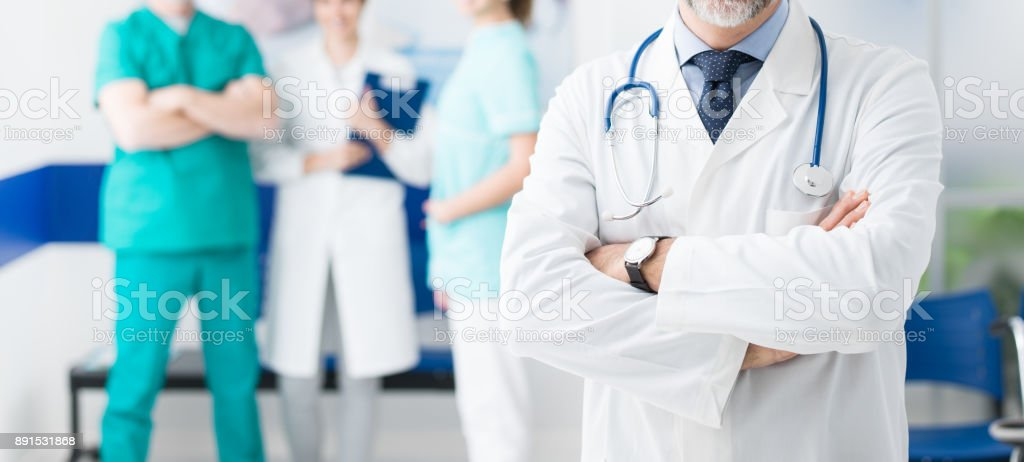 Professional medical team stock photo