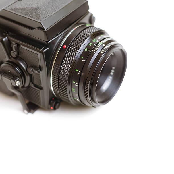 analoge noch professionelle mittelformat-kamera - sinn uhren stock-fotos und bilder