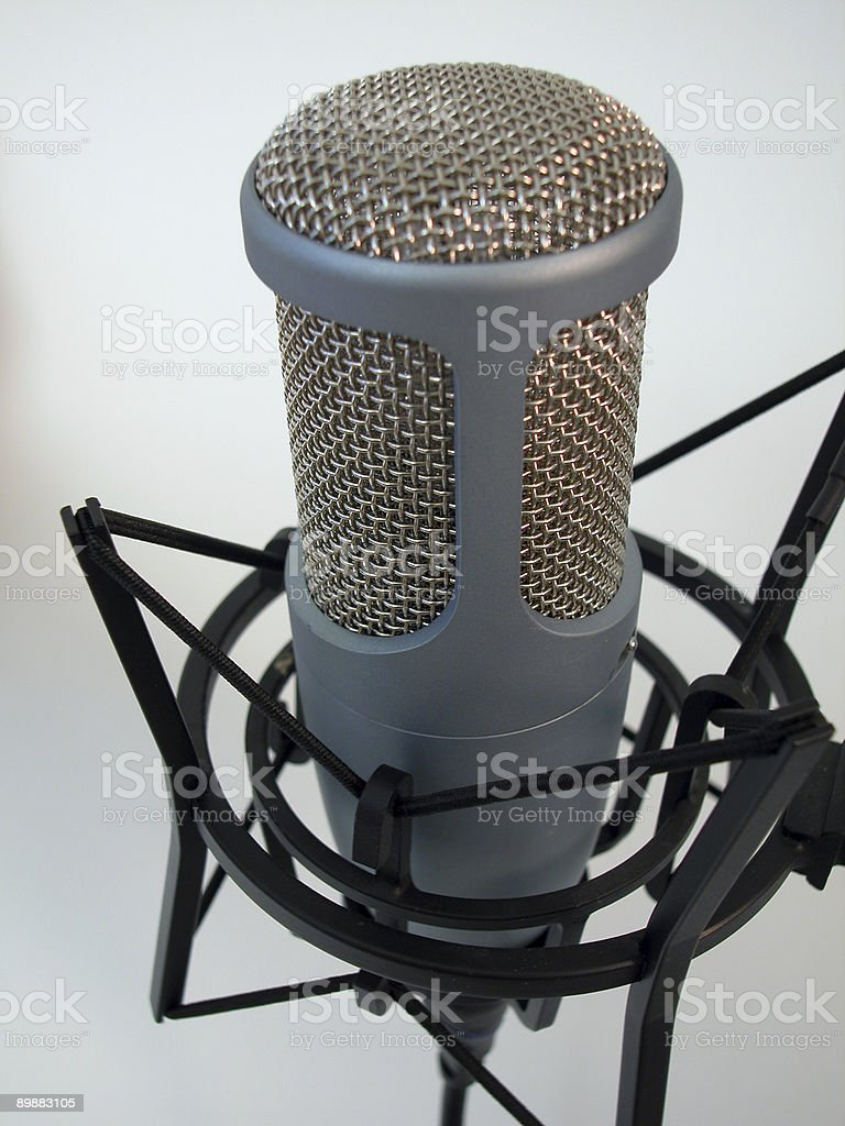 Professional Mic-Mid Focus royalty-free stock photo