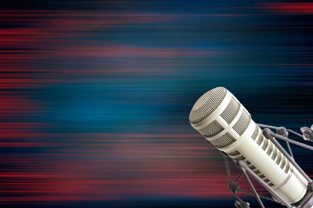 Professional microphone stock photo
