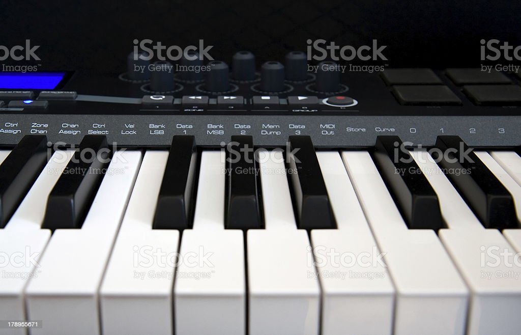 Professional MIDI-keyboard royalty-free stock photo