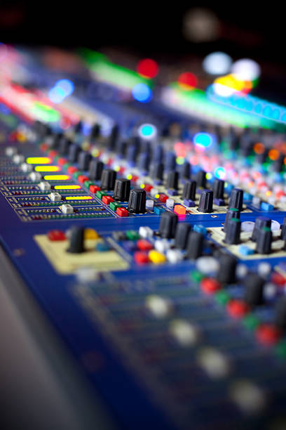Professional mixer desk stock photo