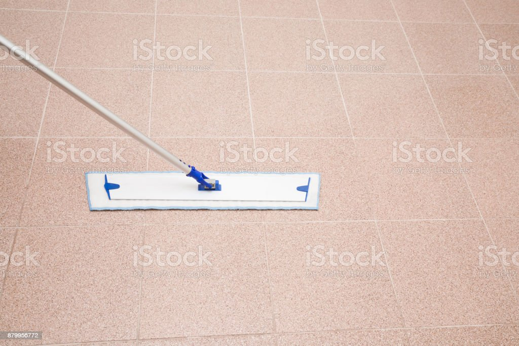 Professional Mop On The Tiles Floor Regular Clean Up Commercial