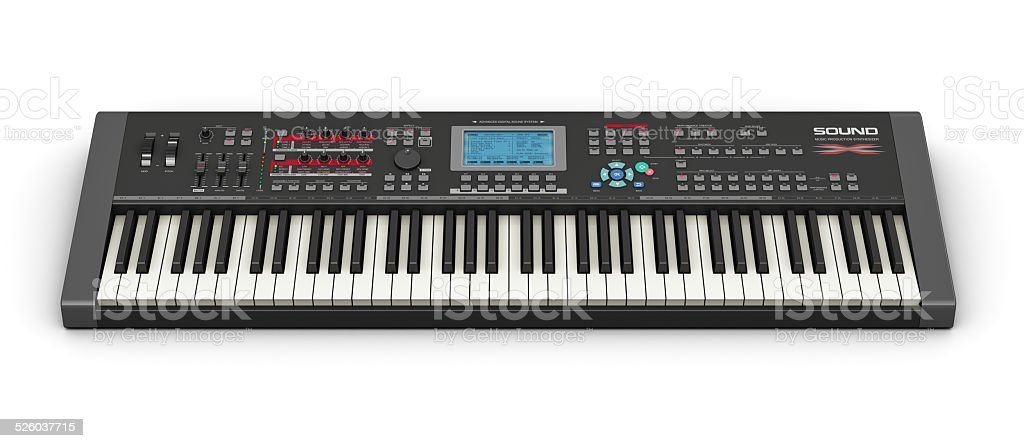 Professional musical synthesizer stock photo