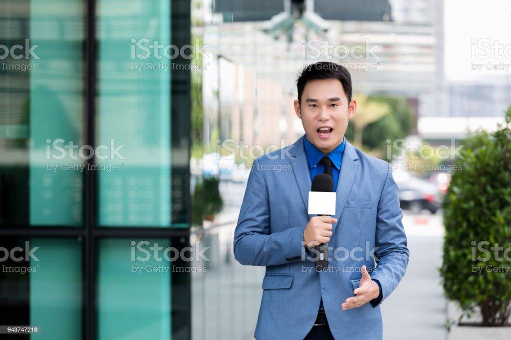 professionellen News-reporter – Foto