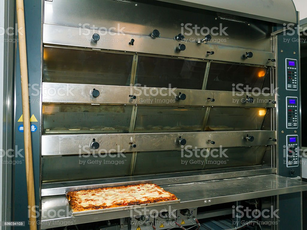 Professional oven for bread and pizza royalty-free stock photo