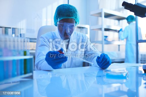 162264253 istock photo Professional Pharmacologist Working In Laboratory 1210081956