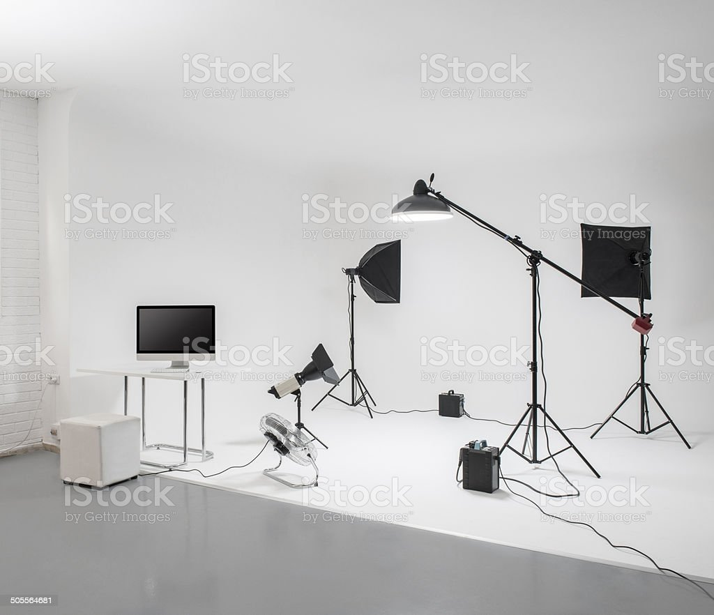 Professional photo studio stock photo