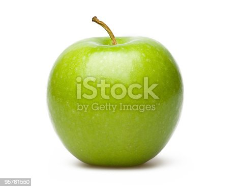 Green Apple Isolated On White Blackgroud