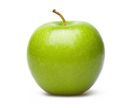 Green Apple Isolated On White Blackgroud