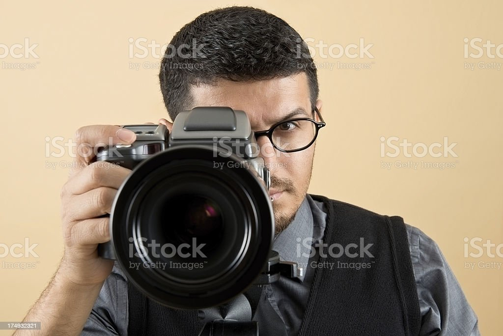 Professional Photographer royalty-free stock photo
