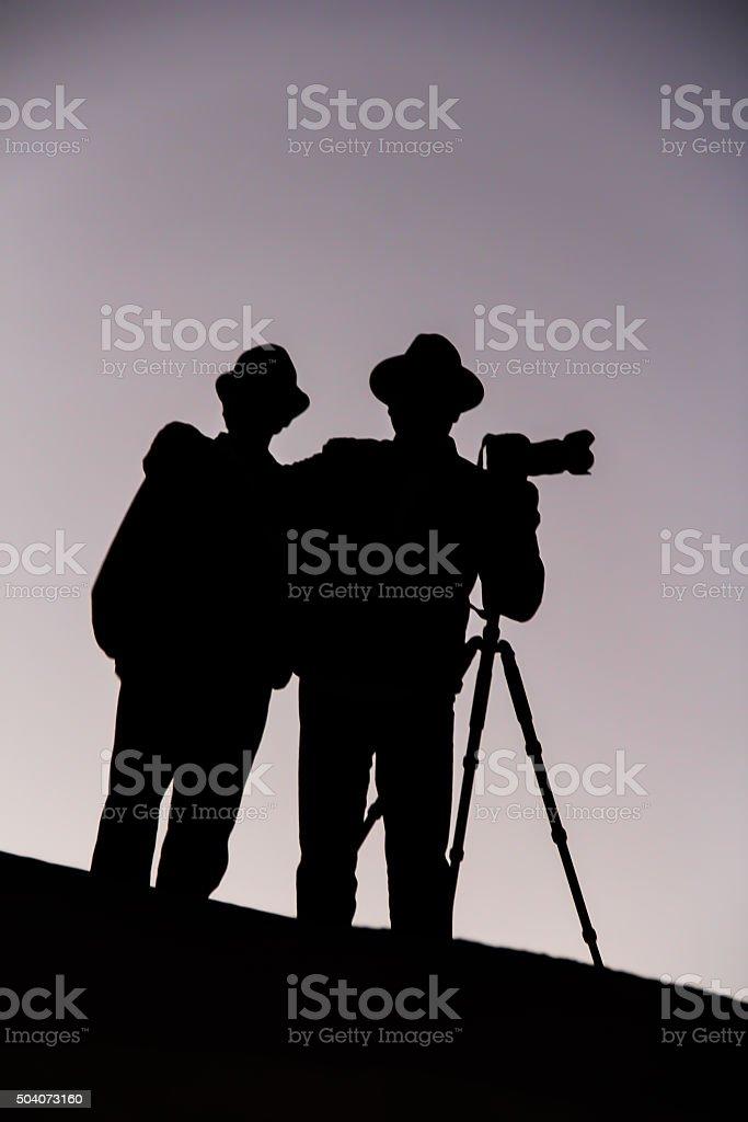Professional Photographers Photographing in Dubai, UAE stock photo