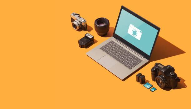 Professional photography equipment stock photo