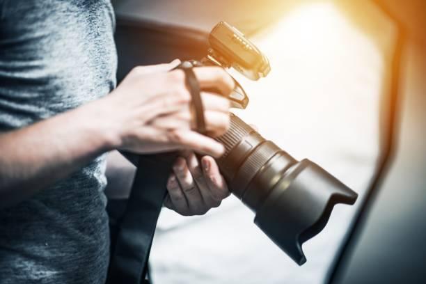 Professional Photography Job stock photo
