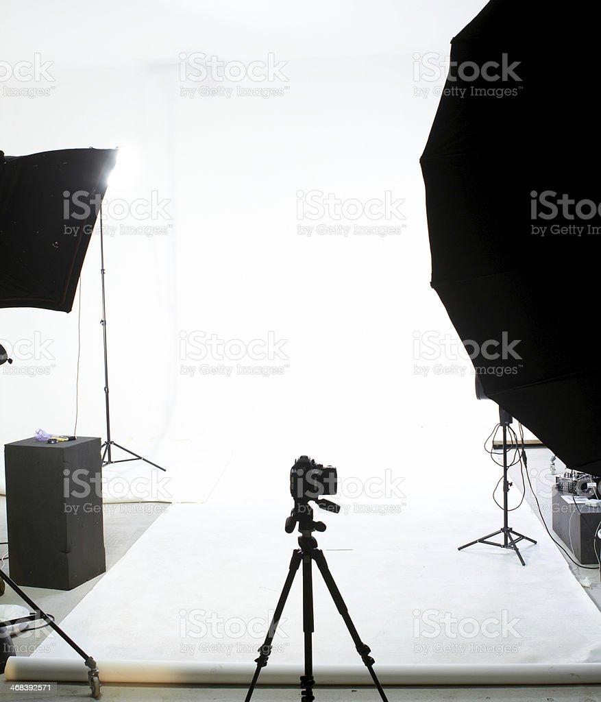 Professional photography studio stock photo