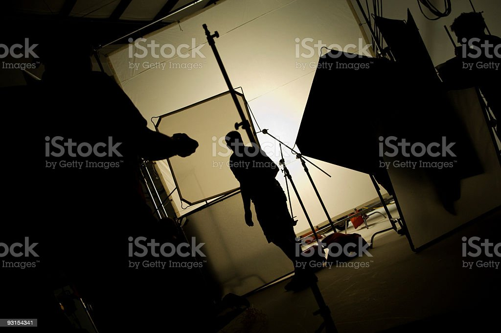 Professional Photography Studio with Studio Lighting royalty-free stock photo