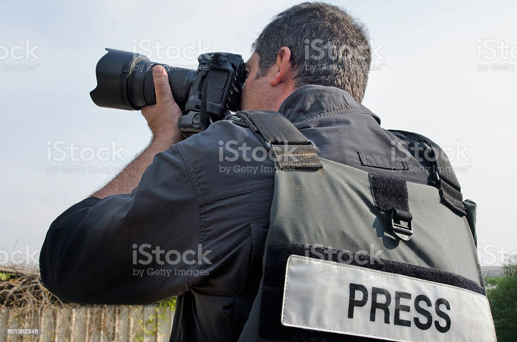 Professional Photojournalist stock photo