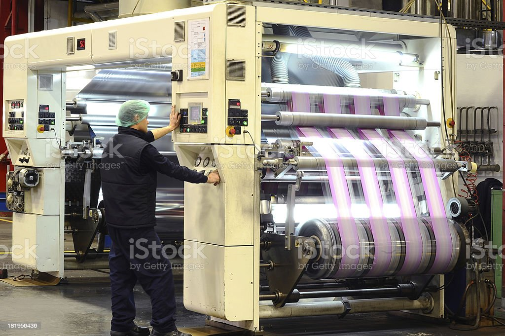 Professional printing press stock photo