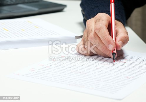 istock Professional proofreader or editor 496988432