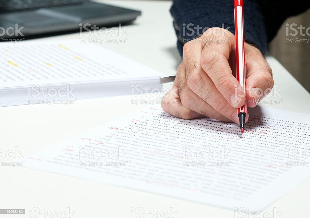 Professional proofreader or editor stock photo