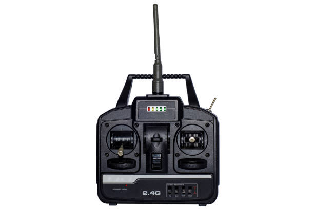 Professional Remote Control for Helicopters and Quadcopters stock photo