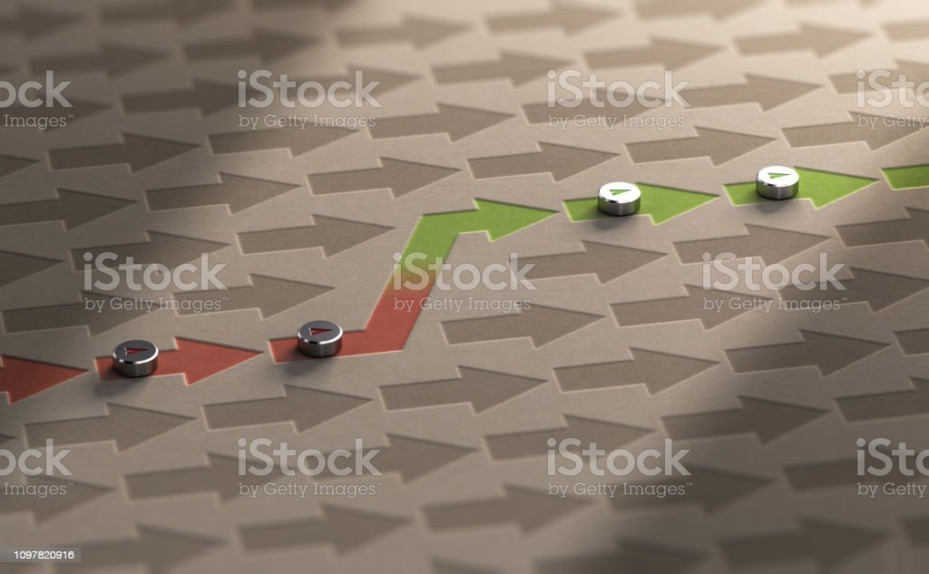Professional Reorientation or Career Change Concept stock photo