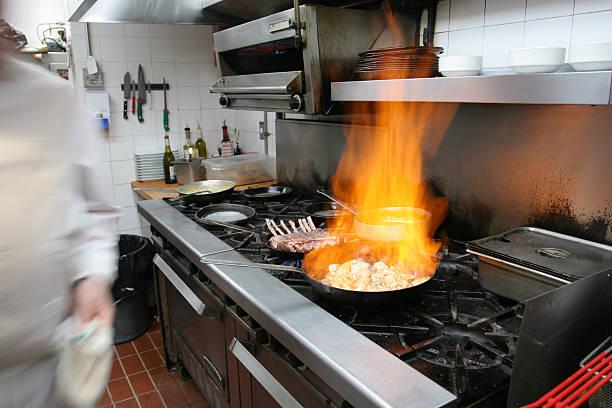 Professionelle restaurant Küche, Kanada – Foto