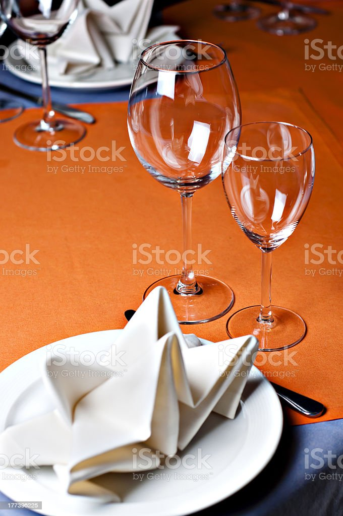 Professional Restaurant Serving royalty-free stock photo