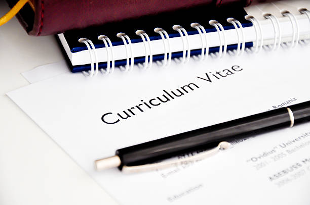 professionelle lebenslauf oder curriculum vitae - bewerbung lebenslauf stock-fotos und bilder