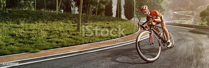 istock Professional road cyclist 474235346