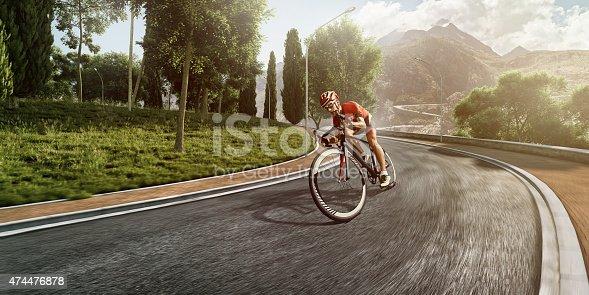 istock Professional road cyclist 474476878