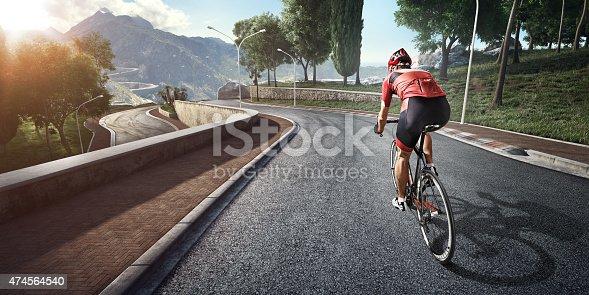 istock Professional road cyclist 474564540