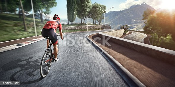 istock Professional road cyclist 475242652