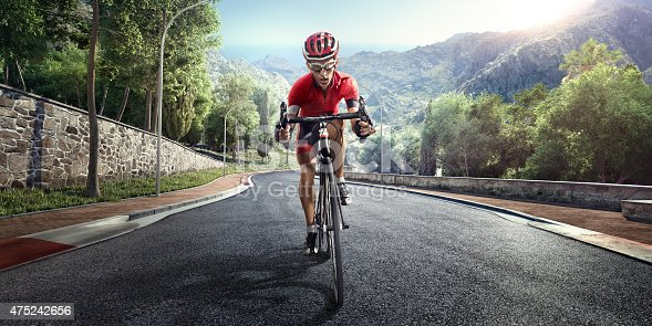 istock Professional road cyclist 475242656
