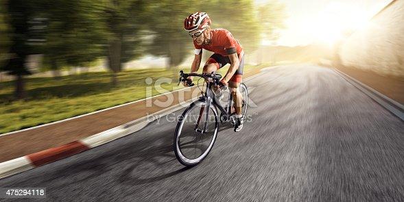 istock Professional road cyclist 475294118