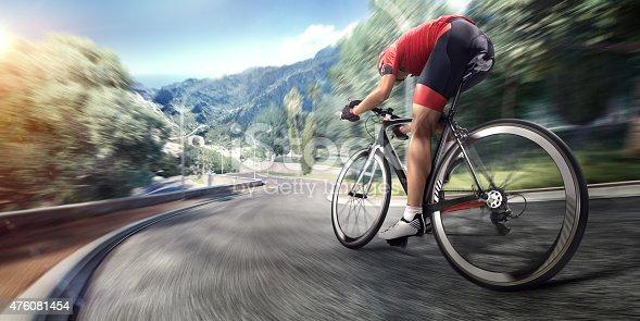 istock Professional road cyclist 476081454