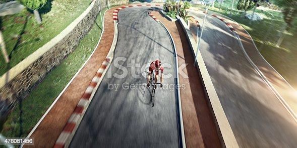 istock Professional road cyclist 476081456