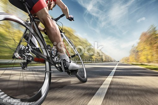 istock Professional road cyclist 477445650