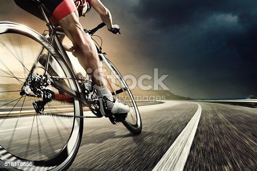 istock Professional road cyclist 516178656
