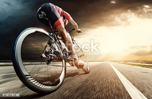istock Professional road cyclist 516178748