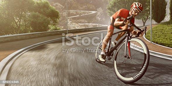 istock Professional road cyclist 539324345