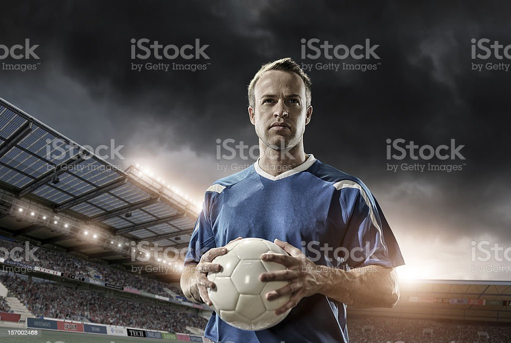 Professional Soccer Player royalty-free stock photo
