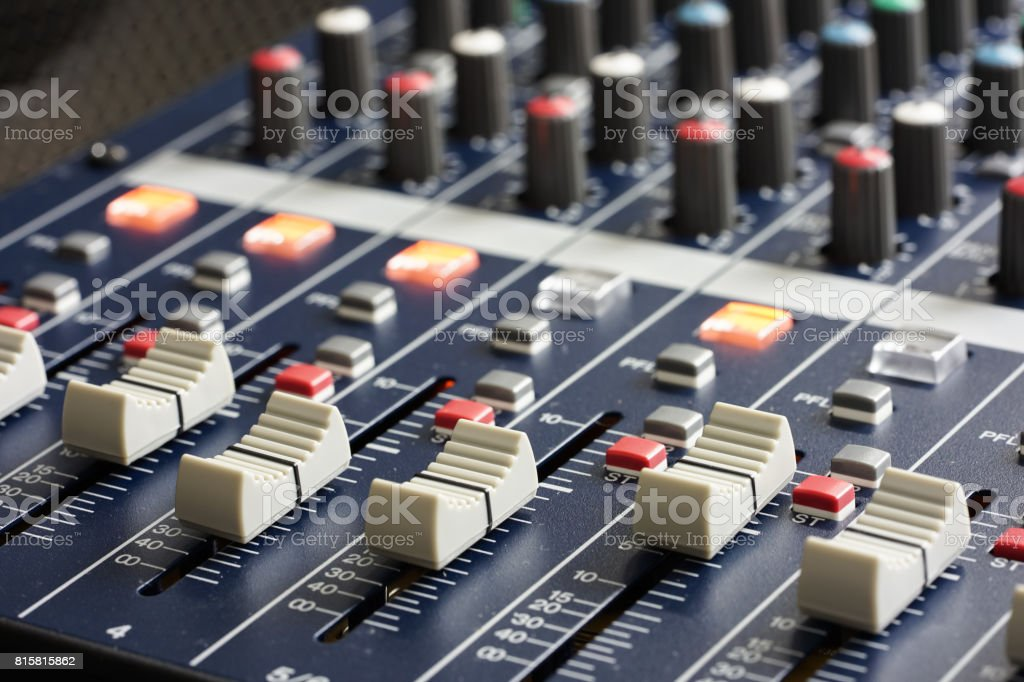 Professional Music Mixer Console with dial knob and slide bar....