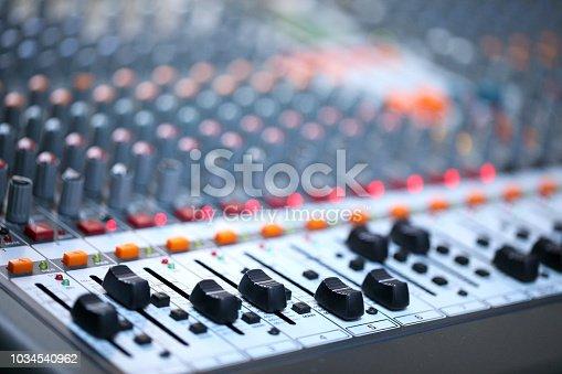istock Professional Sound Mixer 1034540962