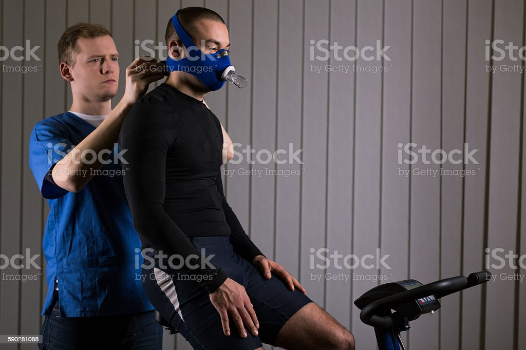 Professional sport requires professional workout stock photo