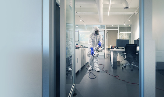 Professional spray and sanitation of a corporate office